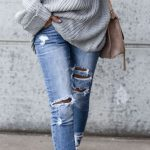 Grey Oversized Sweaters Outfit
