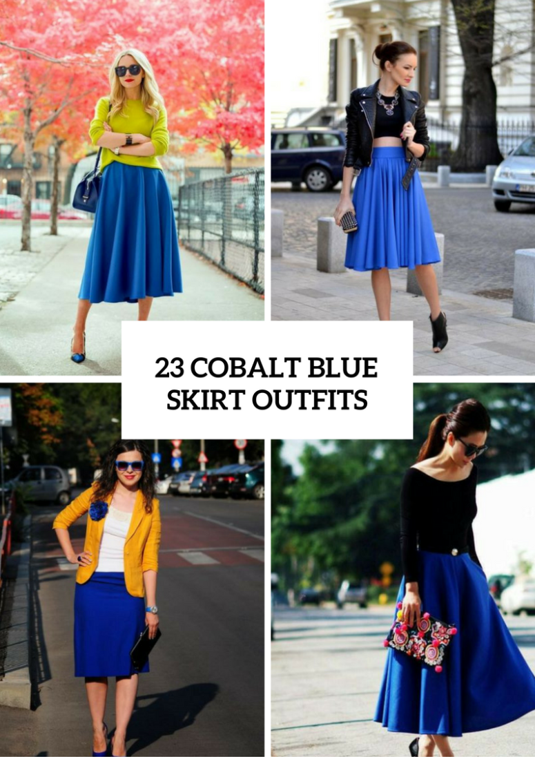 How Should Style Blue Skirt