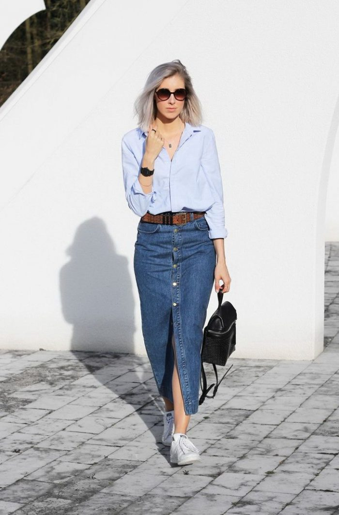 How To Make A Denim Skirt Look Awesome