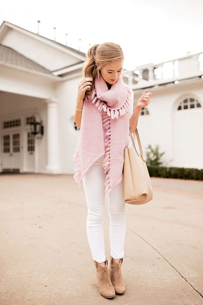 How To Wear Baby Pink In Winter