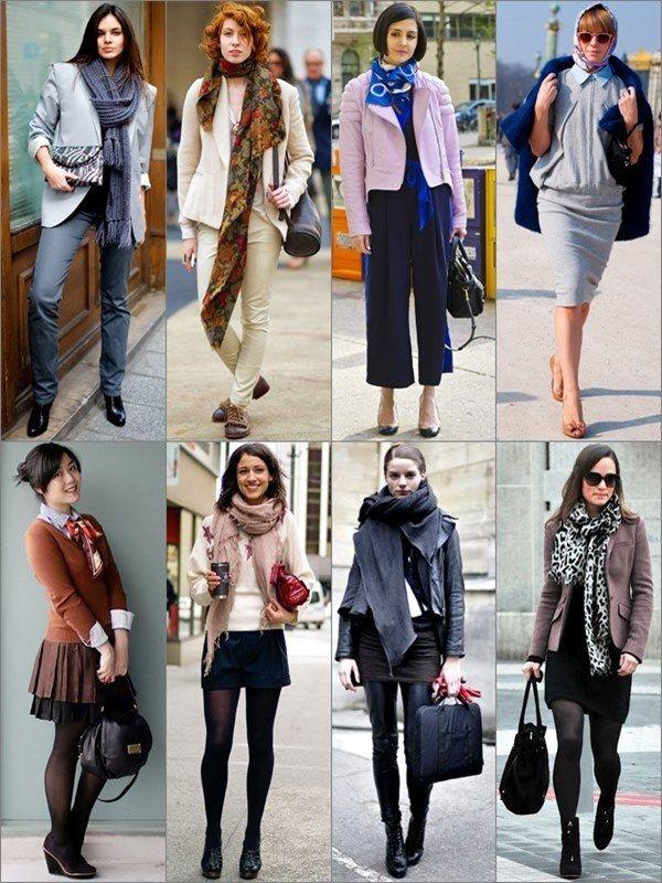 How To Wear Women Fall Scarves