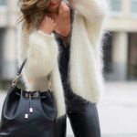 Knitwear, Fur And Leather Outfit