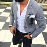 Light Grey Blazer Outfits