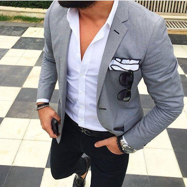Light Grey Blazer Outfits