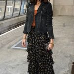 Maxi Skirt And Leather Jacket Outfit