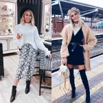 Midi Snakeskin Print Skirt Or Bulky Camel   Cape-Coat Outfit