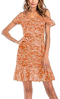 Orange Strapless Sundress For Summer