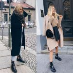 Oversized Coats And Buckled Cut Ankle   Boots