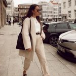 Oversized Pantsuit In Cream White For   Women