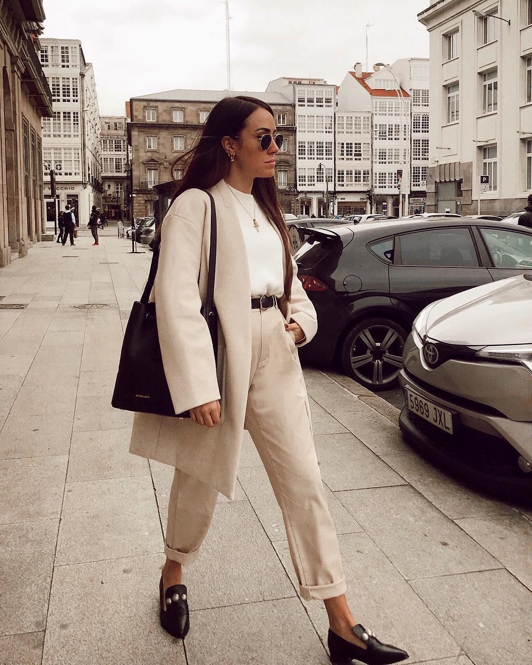 Oversized Pantsuit In Cream White For   Women