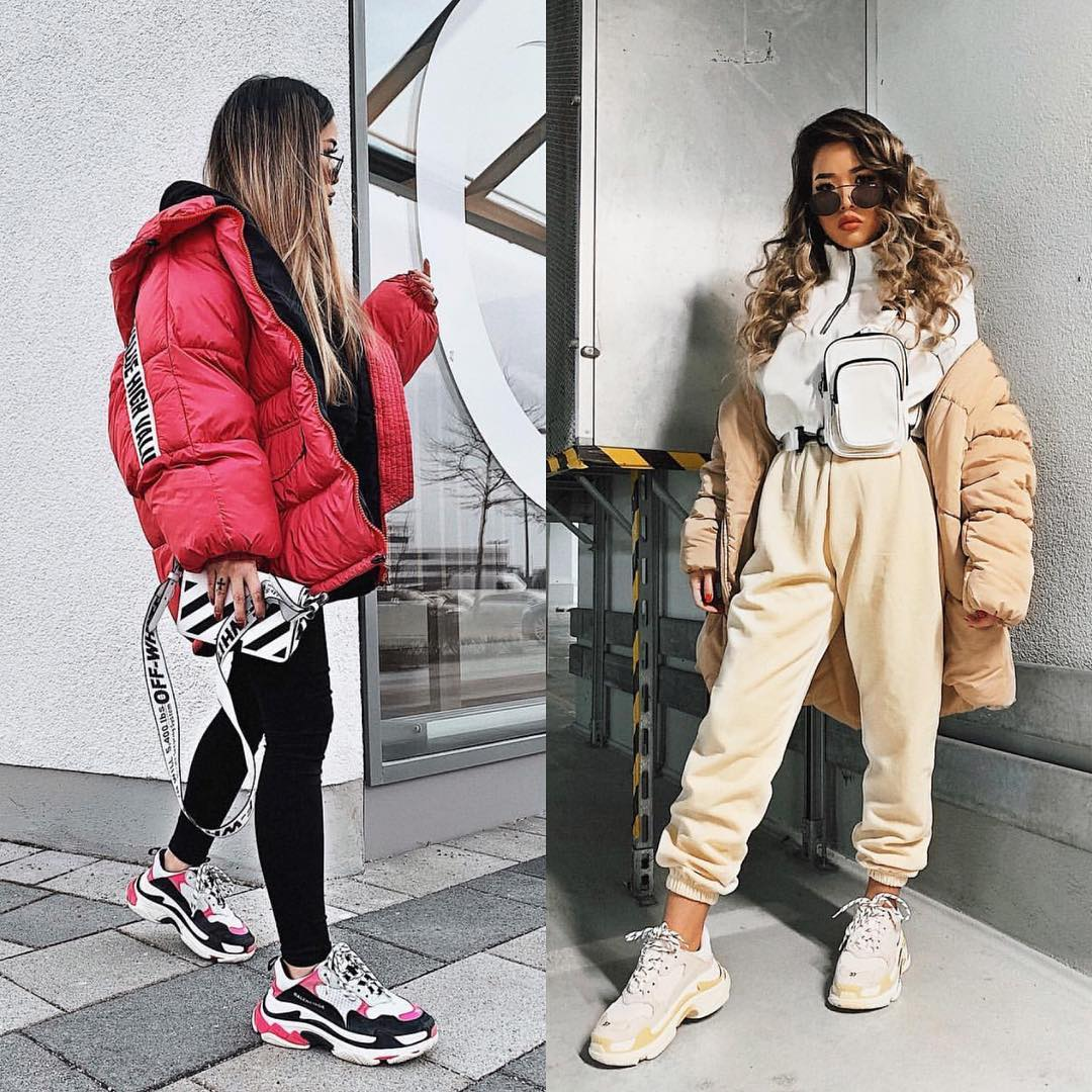 Oversized Puffer Jackets And Ugly   Sneakers Outfit