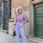 Pastel Sweater And Bootcut Pants Outfit