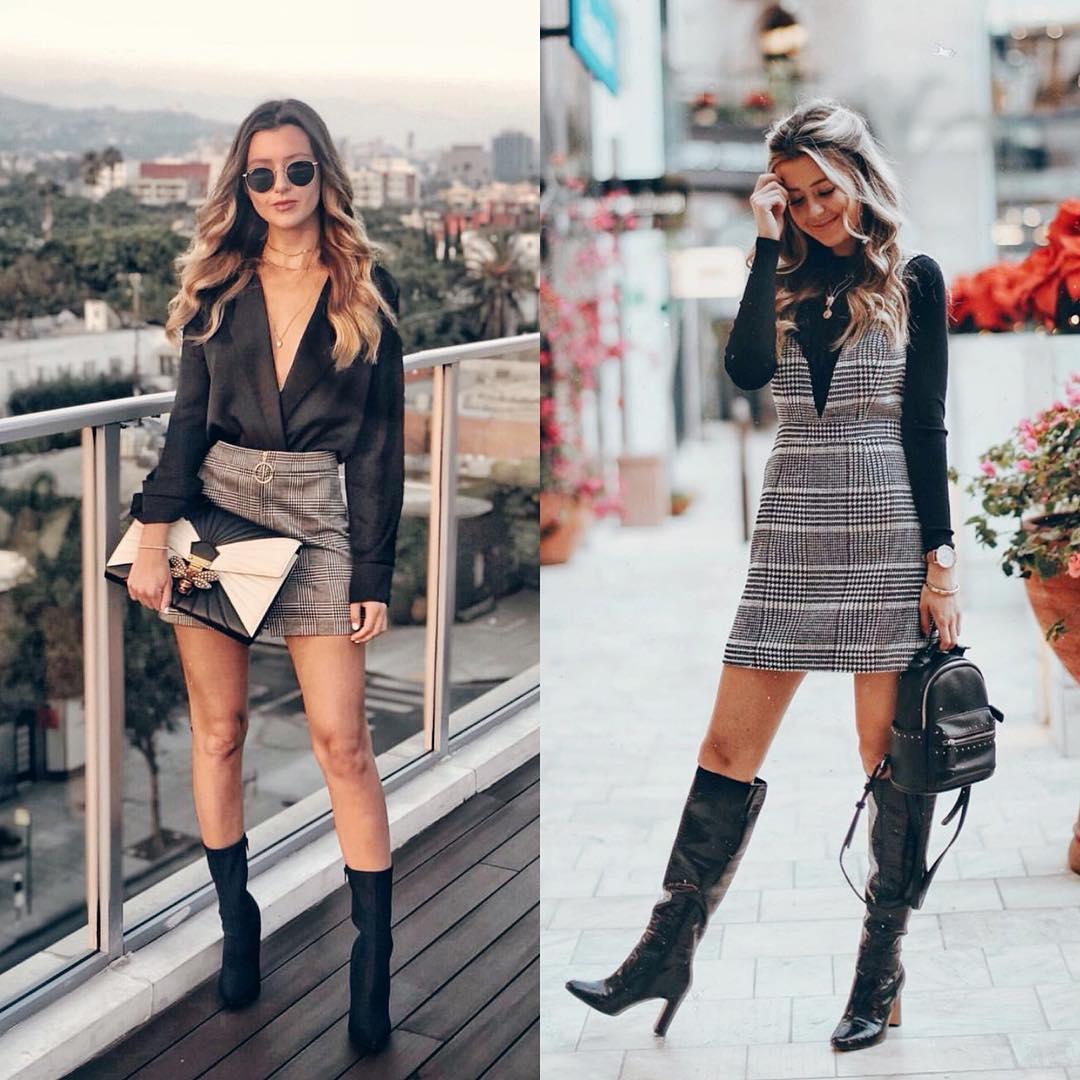 Plaid Skirt Or Plaid Dress This Fall
