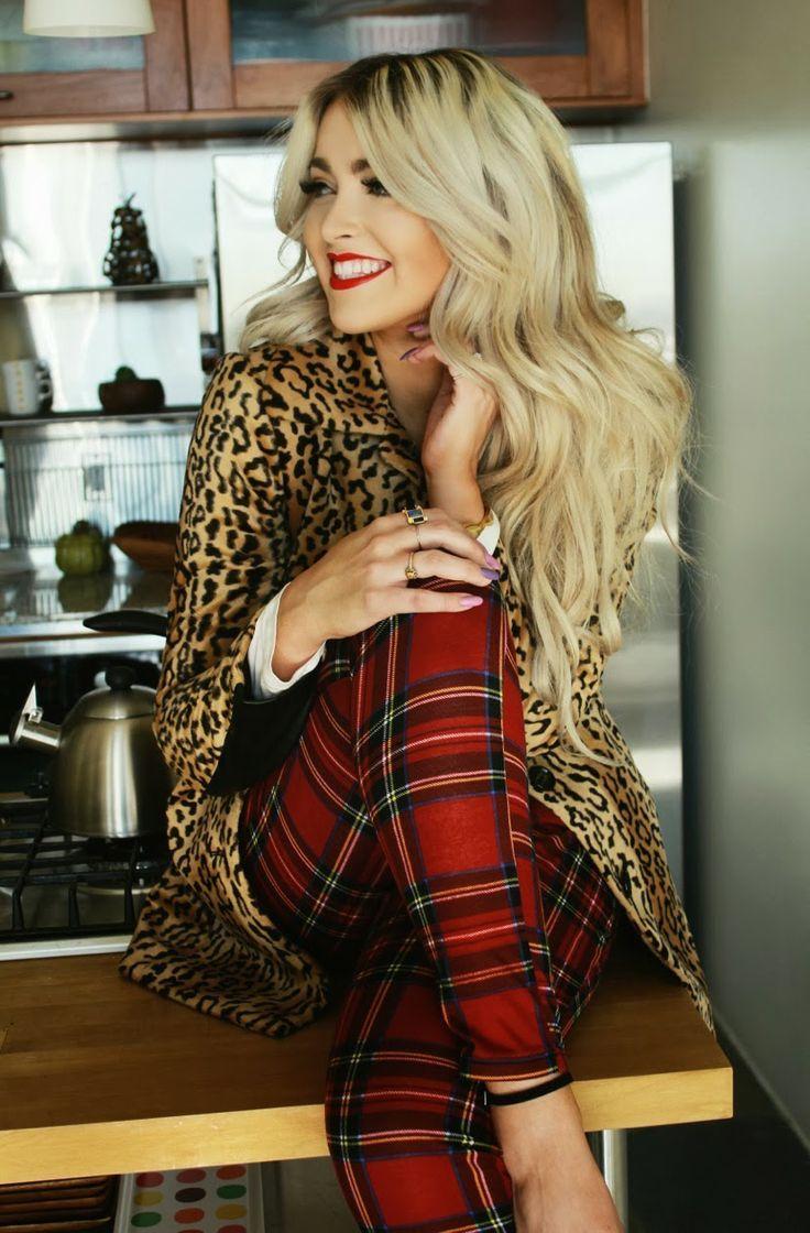 Plaids And Leopard Prints Outfit