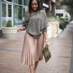 Pleated Skirts Simple Outfit Ideas