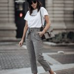 Printed Pants With Grey-White Sneakers   Outfit