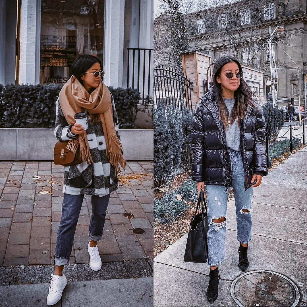 Puffer Jacket Or Wool Striped Jacket   Outfit