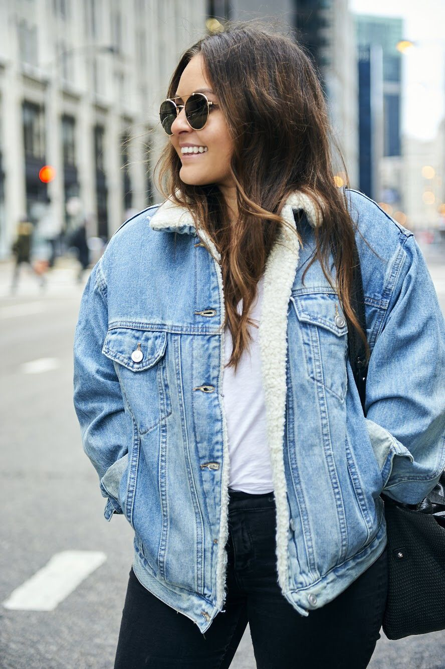 Shearling Jacket With Jeans Outfit