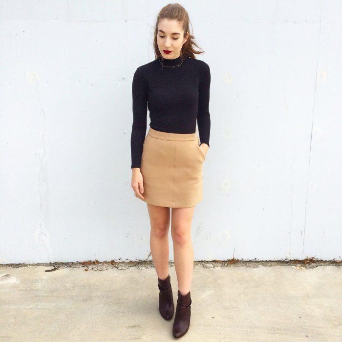 Turtlenecks and Mini Skirts Outfit