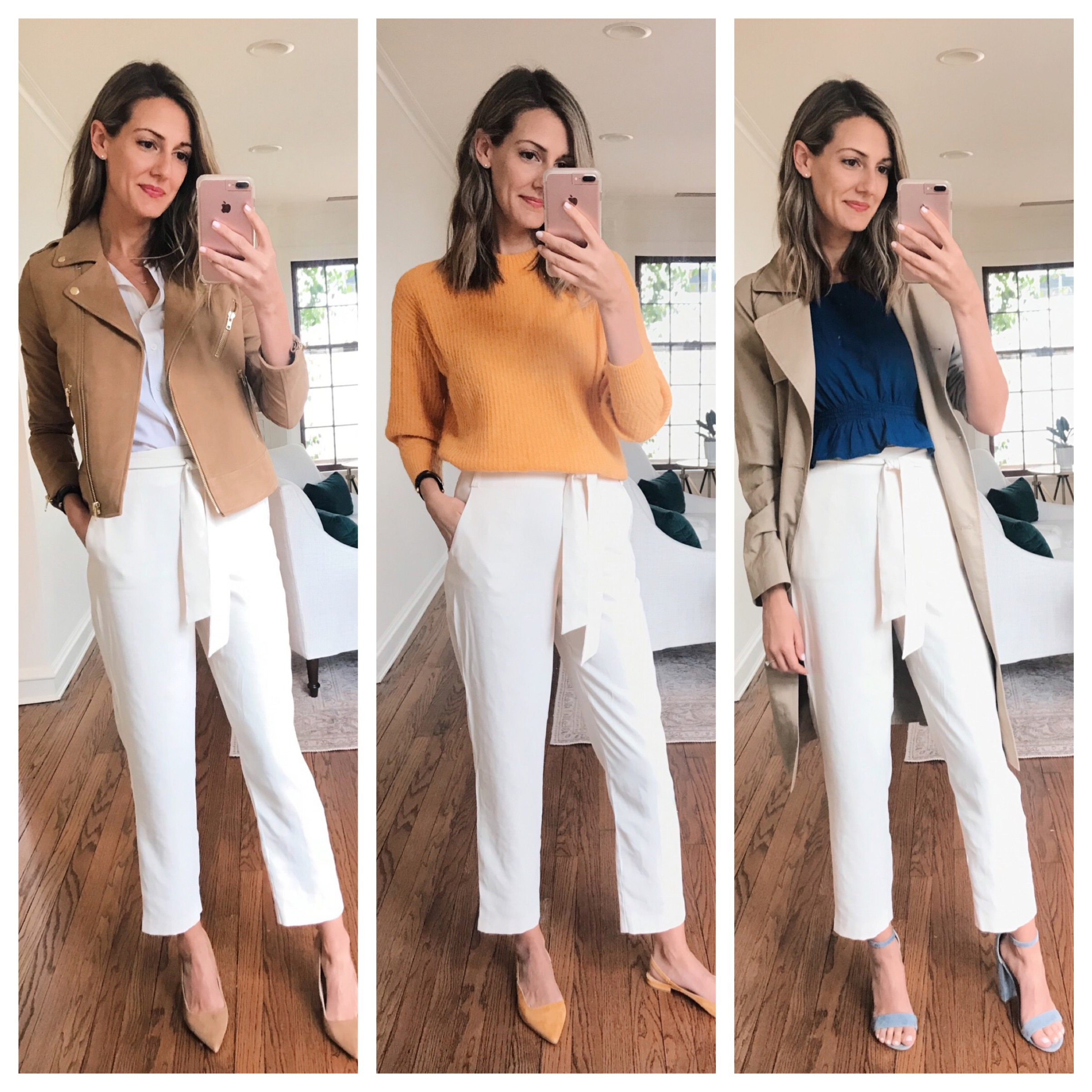 What to Wear with White Pants