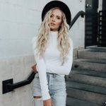 White Turtleneck Outfit