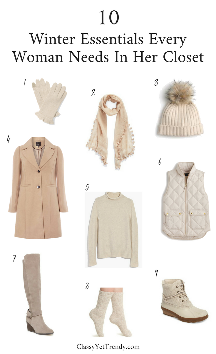 Winter Must-Haves Every Woman Needs In   Her Closet