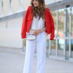 Women White Pants Street Style