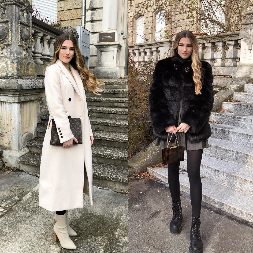 Wool Coat Or Fur Coat For Autumn