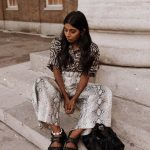 Zebra Print Shirt And Snakeskin Print   Wide Pants With Birkenstocks For Summer
